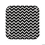 Black Chevron Dinner Plates