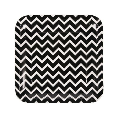 quickview · image of Black Chevron Paper Dinner Plates with sku13653513  sc 1 st  Oriental Trading & Chevron Paper Dinner Plates