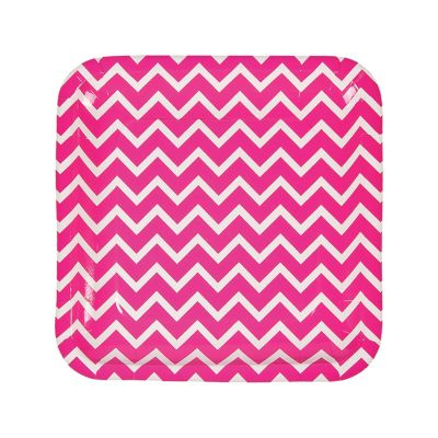 quickview · image of Hot Pink Chevron Paper Dinner Plates with sku13653516  sc 1 st  Oriental Trading & Chevron Paper Dinner Plates