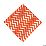 Orange Chevron Luncheon Napkins