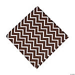 Chocolate Brown Chevron Luncheon Napkins