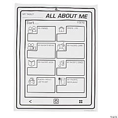 "Color Your Own ""It's All About Me"" Tablet Posters"