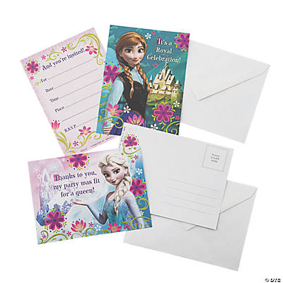 Disney Frozen Invitations & Thank You Notes