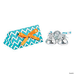 Turquoise & Orange Triangle Favor Boxes