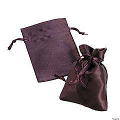 Mini Plum Drawstring Bags