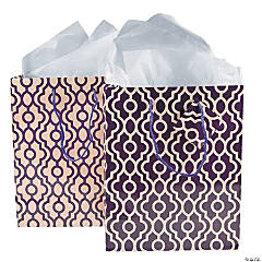 Medium Plum & Champagne Gift Bags