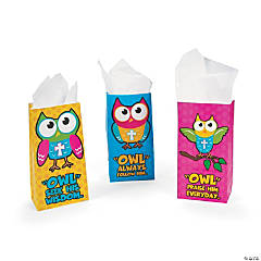 Bright Religious Owl Treat Bags