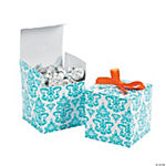 Turquoise Favor Boxes
