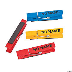 No Name Clothespin Magnets