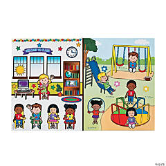 Going to School Giant Sticker Scenes