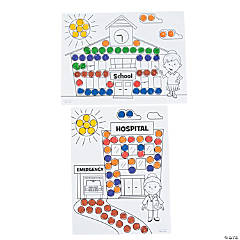 Community Helpers Dot Marker Sheets