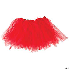 Red Tulle Tutu Skirt for Adults