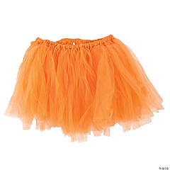 Orange Tulle Tutu Skirt for Adults