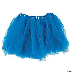 Blue Tulle Tutu Skirt for Adults