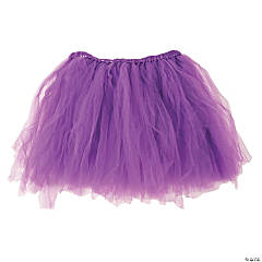 Purple Tulle Tutu Skirt for Adults
