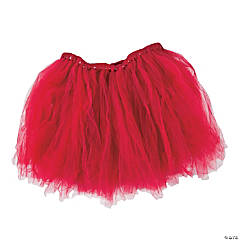 Burgundy Tulle Tutu Skirt for Adults