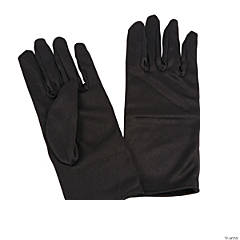 Short Black Gloves For Adults