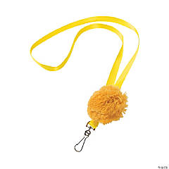 Yellow Pom-Pom Lanyards