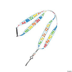 Alphabet Lanyards