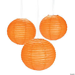 Orange Pumpkin Purée Paper Lanterns
