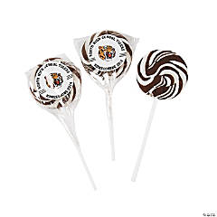 White School Spirit Custom Photo Swirl Pops