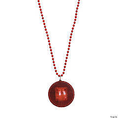 Red Beaded Light-Up Necklaces