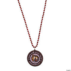 Burgundy Custom Photo Beaded Light-Up Necklaces