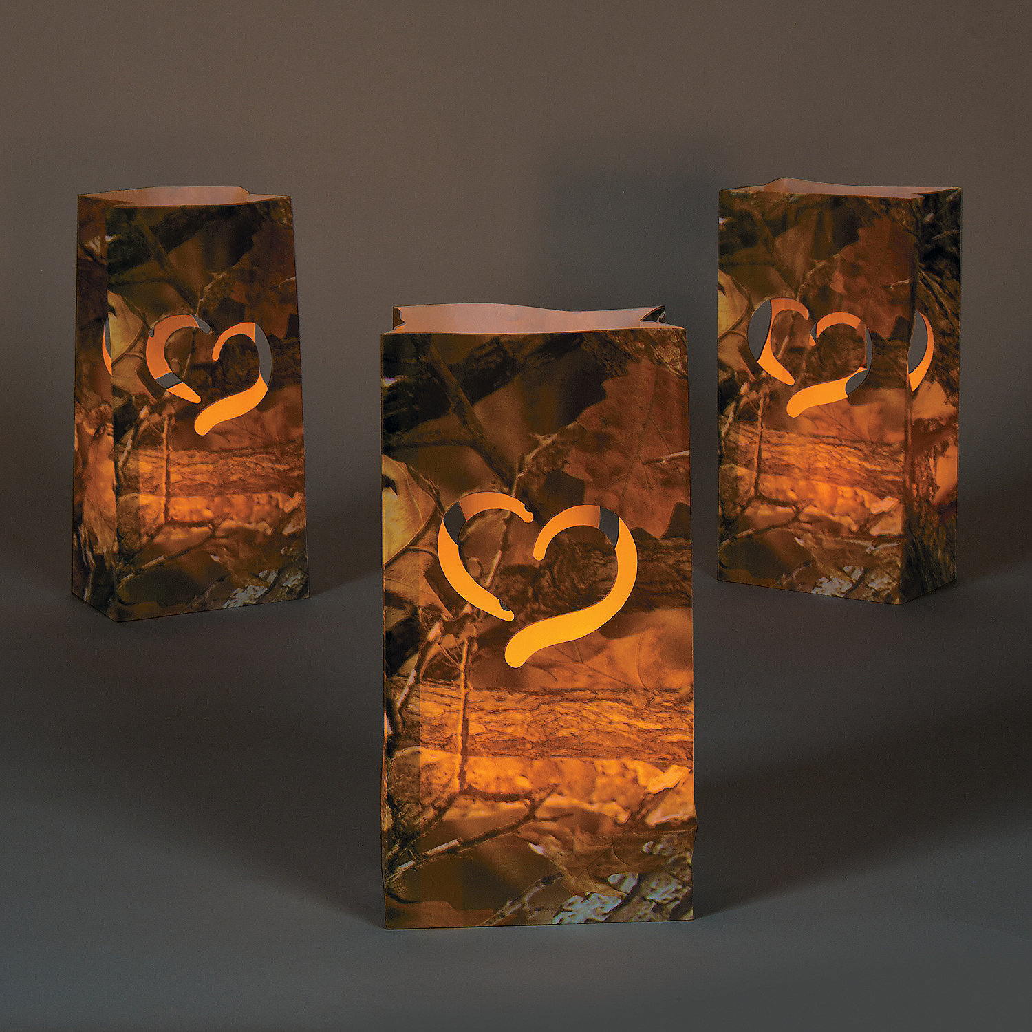Camo Wedding Decoration Ideas: Camouflage Wedding Luminary Bags, Party Lights & Special