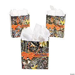 Paper Camouflage Wedding Gift Bags