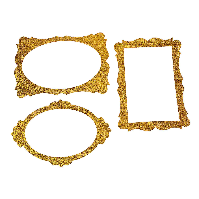 gold glitter picture frame cutouts