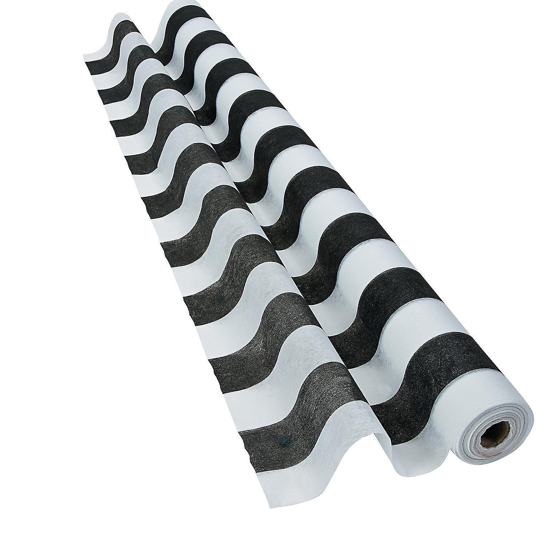 Black & White Striped Gossamer Roll, Gossamer & Tulle, Wedding ...
