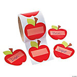 Apple-Shaped Name Tags/Labels