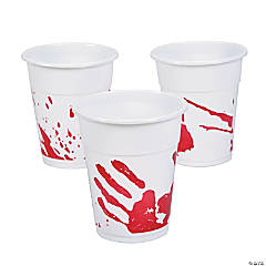 Bloody Handprint Disposable Cups