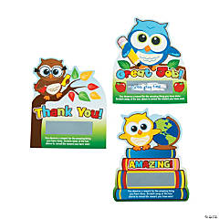 Owl Scratch Reward Cards