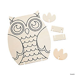 Color Your Own Owl Stand-Ups