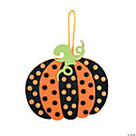 Polka Dot Pumpkin Ornament Craft Kit