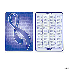 2015 Purple Ribbon Wallet Card Calendars