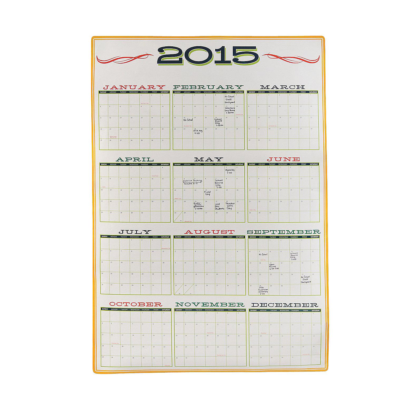 Calendar Poster Size : Poster size dry erase calendar oriental trading