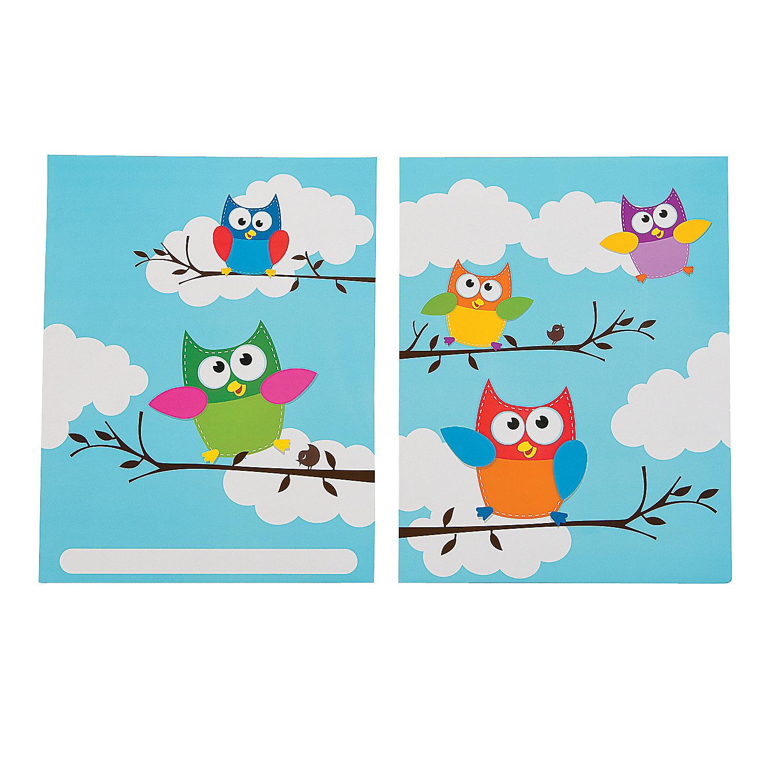 owl homework folders