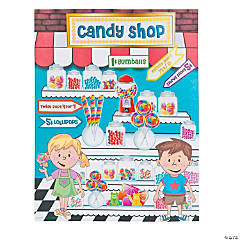 Candy Shop Sticker Scenes