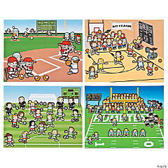 Team Sports Sticker Scenes