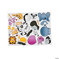 Mix & Match Magnetic Zoo Animal Sheet
