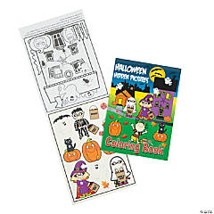 Halloween Hidden Pictures Coloring Books