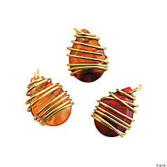Fall Wire Wrap Charms - 13mm x 18mm