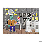 Green Monster Bride & Groom Mini Sticker Scenes