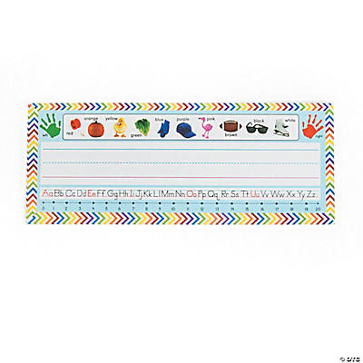 Desk Plates with Color Characters