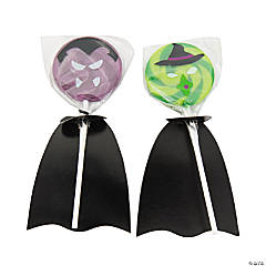 Witch & Vampire Swirl Pops with Capes