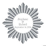 Personalized Starburst Wedding Wall Decal