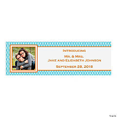 Turquoise & Orange Custom Photo Banner - Medium