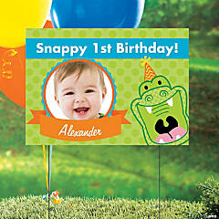 Alligator Custom Photo Yard Sign